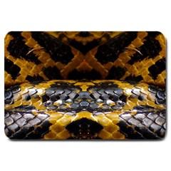 Textures Snake Skin Patterns Large Doormat