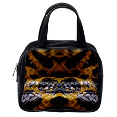 Textures Snake Skin Patterns Classic Handbags (one Side)