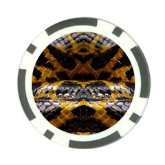 Textures Snake Skin Patterns Poker Chip Card Guard (10 Pack)