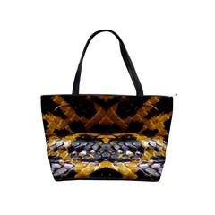 Textures Snake Skin Patterns Shoulder Handbags