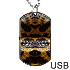 Textures Snake Skin Patterns Dog Tag Usb Flash (one Side)