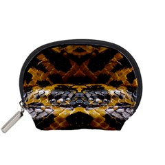 Textures Snake Skin Patterns Accessory Pouches (small)