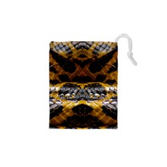 Textures Snake Skin Patterns Drawstring Pouches (xs)
