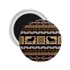Lion African Vector Pattern 2 25  Magnets