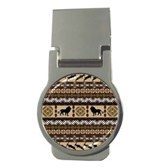 Lion African Vector Pattern Money Clips (round)