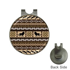 Lion African Vector Pattern Hat Clips With Golf Markers