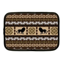 Lion African Vector Pattern Netbook Case (medium)
