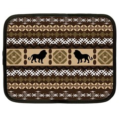 Lion African Vector Pattern Netbook Case (large)