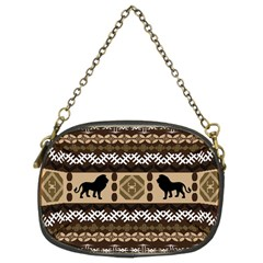 Lion African Vector Pattern Chain Purses (two Sides)