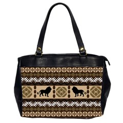Lion African Vector Pattern Office Handbags (2 Sides)