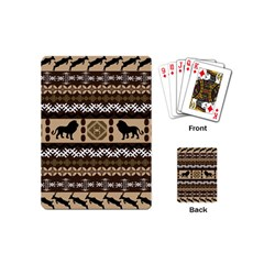 Lion African Vector Pattern Playing Cards (mini)
