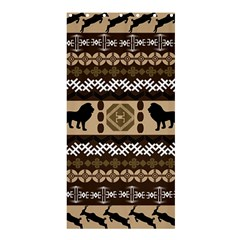 Lion African Vector Pattern Shower Curtain 36  X 72  (stall)