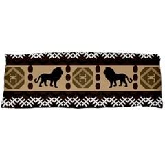 Lion African Vector Pattern Body Pillow Case (dakimakura)