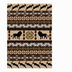 Lion African Vector Pattern Small Garden Flag (two Sides)