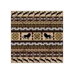 Lion African Vector Pattern Acrylic Tangram Puzzle (4  X 4 )
