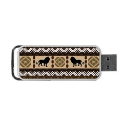 Lion African Vector Pattern Portable Usb Flash (two Sides)