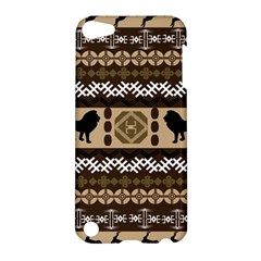 Lion African Vector Pattern Apple Ipod Touch 5 Hardshell Case