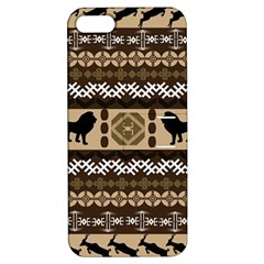 Lion African Vector Pattern Apple Iphone 5 Hardshell Case With Stand