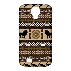 Lion African Vector Pattern Samsung Galaxy S4 Classic Hardshell Case (pc+silicone)