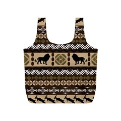 Lion African Vector Pattern Full Print Recycle Bags (s)