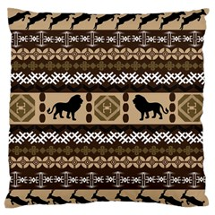 Lion African Vector Pattern Large Flano Cushion Case (one Side)