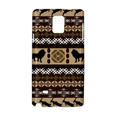 Lion African Vector Pattern Samsung Galaxy Note 4 Hardshell Case