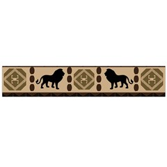 Lion African Vector Pattern Flano Scarf (large)