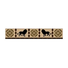 Lion African Vector Pattern Flano Scarf (mini)