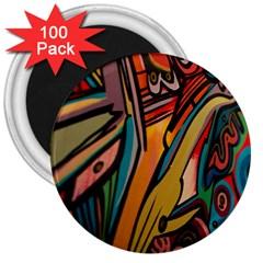 Vivid Colours 3  Magnets (100 Pack)