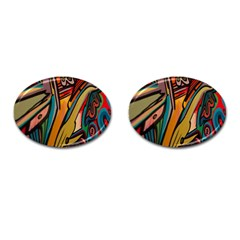 Vivid Colours Cufflinks (oval)