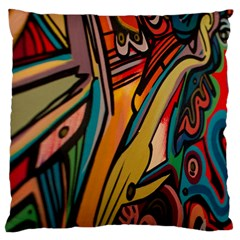 Vivid Colours Large Cushion Case (one Side)