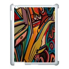 Vivid Colours Apple Ipad 3/4 Case (white)