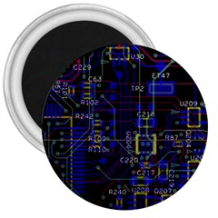 Technology Circuit Board Layout 3  Magnets