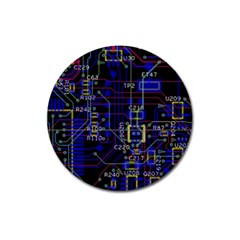 Technology Circuit Board Layout Magnet 3  (round)