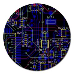 Technology Circuit Board Layout Magnet 5  (round)