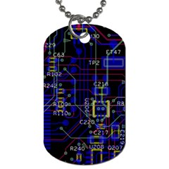 Technology Circuit Board Layout Dog Tag (one Side)