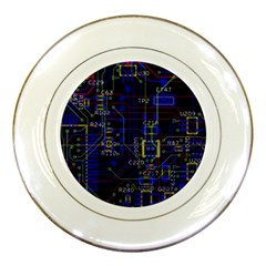 Technology Circuit Board Layout Porcelain Plates