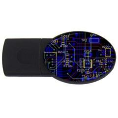 Technology Circuit Board Layout Usb Flash Drive Oval (4 Gb)
