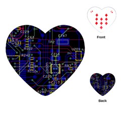 Technology Circuit Board Layout Playing Cards (heart)