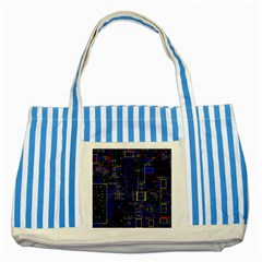 Technology Circuit Board Layout Striped Blue Tote Bag