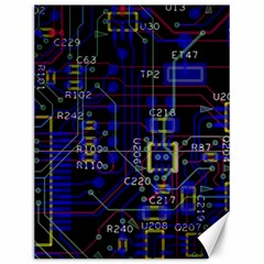 Technology Circuit Board Layout Canvas 12  X 16