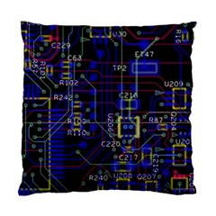 Technology Circuit Board Layout Standard Cushion Case (two Sides)