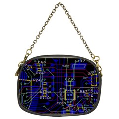 Technology Circuit Board Layout Chain Purses (two Sides)