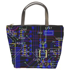 Technology Circuit Board Layout Bucket Bags