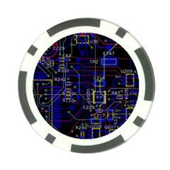 Technology Circuit Board Layout Poker Chip Card Guard (10 Pack)