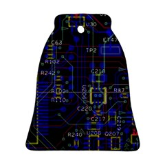 Technology Circuit Board Layout Ornament (bell)