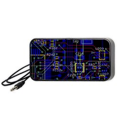 Technology Circuit Board Layout Portable Speaker (black)