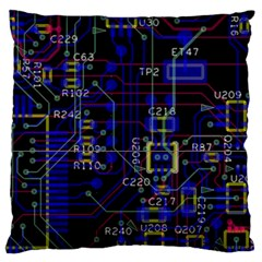 Technology Circuit Board Layout Large Cushion Case (one Side)