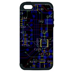 Technology Circuit Board Layout Apple Iphone 5 Hardshell Case (pc+silicone)