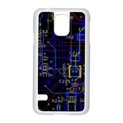 Technology Circuit Board Layout Samsung Galaxy S5 Case (white)